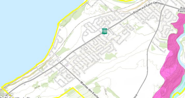 Le district de Sacré-Coeur, sur le littoral.