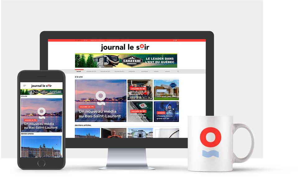 Le Journal Le Soir sur différentes plateforme