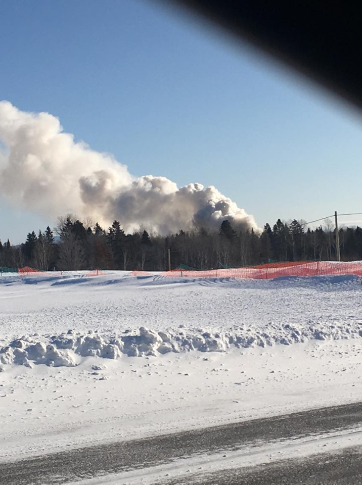 Chalet incendié au Lac Bellavance