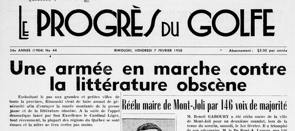 Il y a 62 ans, Rimouski censurait la presse