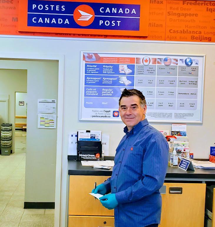 Postes Canada; Danick Proulx