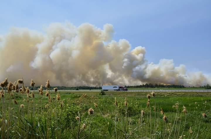L'incendie provoque la fermeture temporaire de la 20