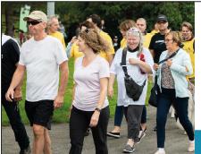 Marcher chez soi pour combattre le cancer