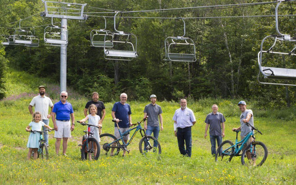 Projet de 3 M$ pour le vélo de montagne au parc du Mont-Saint-Mathieu