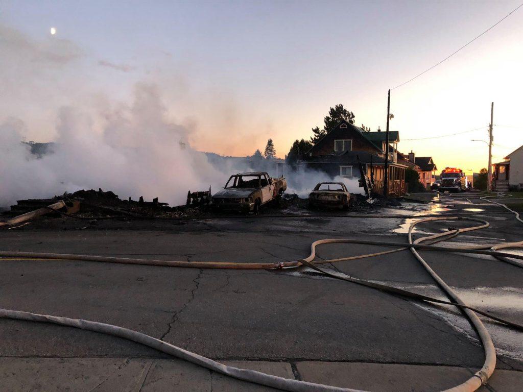 Incendie de Saint-Fabien: sept résidences et une soixantaine de personnes touchées