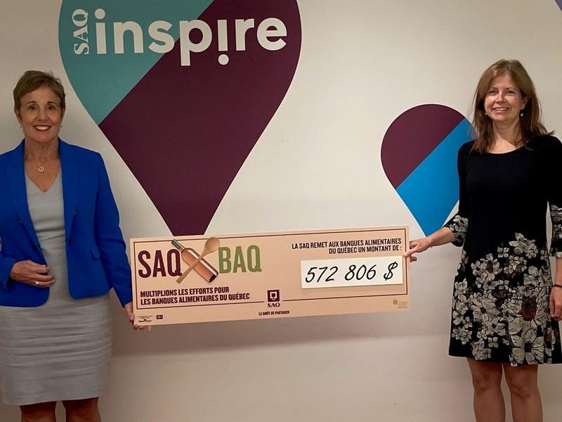 La SAQ remet plus de 500 000 $ au réseau des Banques alimentaires