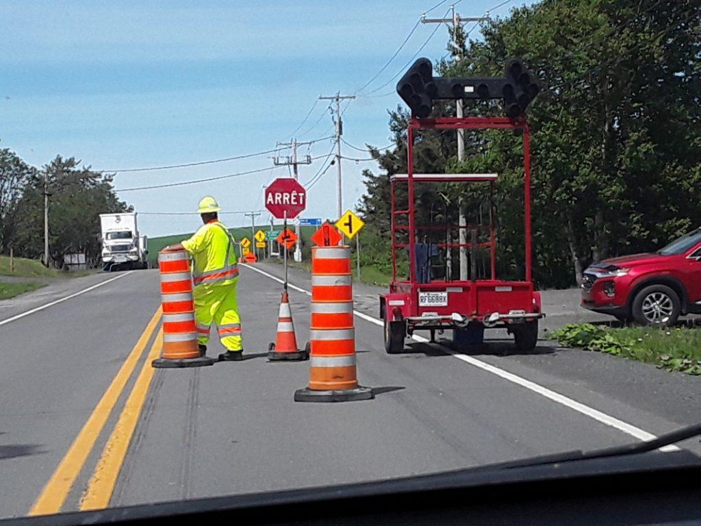 Beaucoup de travaux en cours sur les routes de la région et d'autres à venir