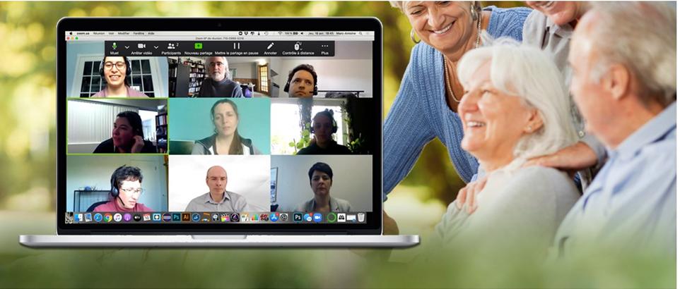 Activités pour aînés en fonction virtuelle