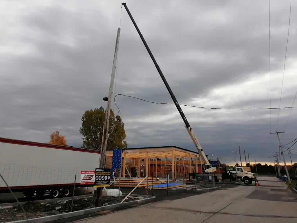 Les travaux de construction du centre communautaire de Sainte-Blandine sont en cours