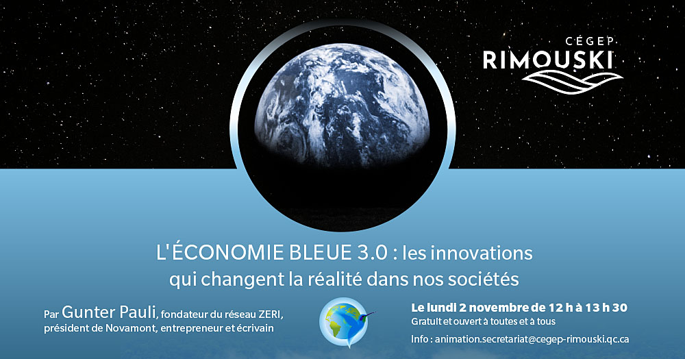 Le Cégep de Rimouski reçoit un spécialiste de l'économie bleue 3.0