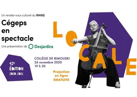 La finale locale de Cégep en spectacle présentée le 26 novembre