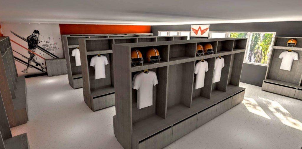 Nouveau vestiaire pour les Pionniers football : objectif atteint