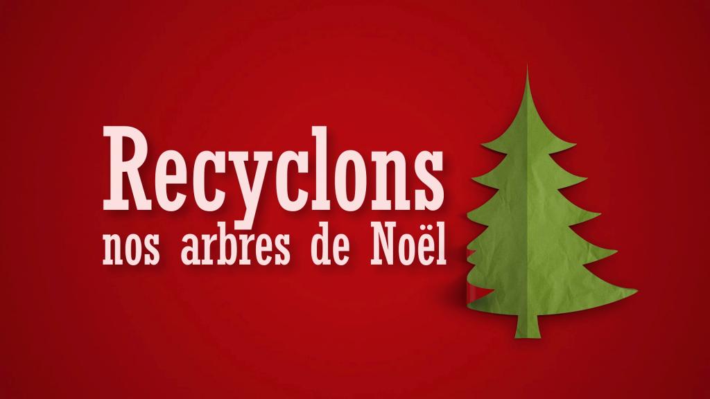 Les citoyens invités à recycler leur arbre de Noël