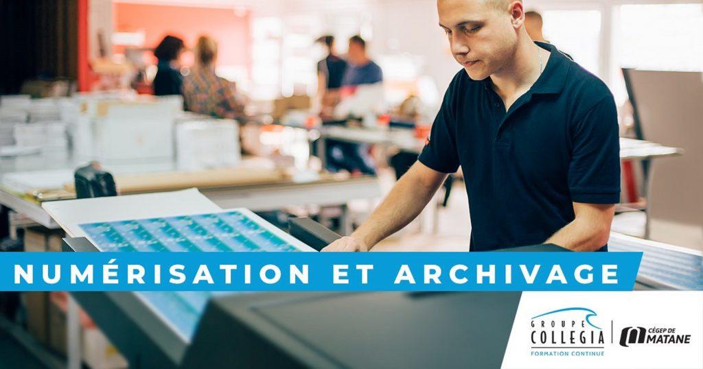 Groupe Collegia invite à s'inscrire à l'AEC Numérisation et archivage