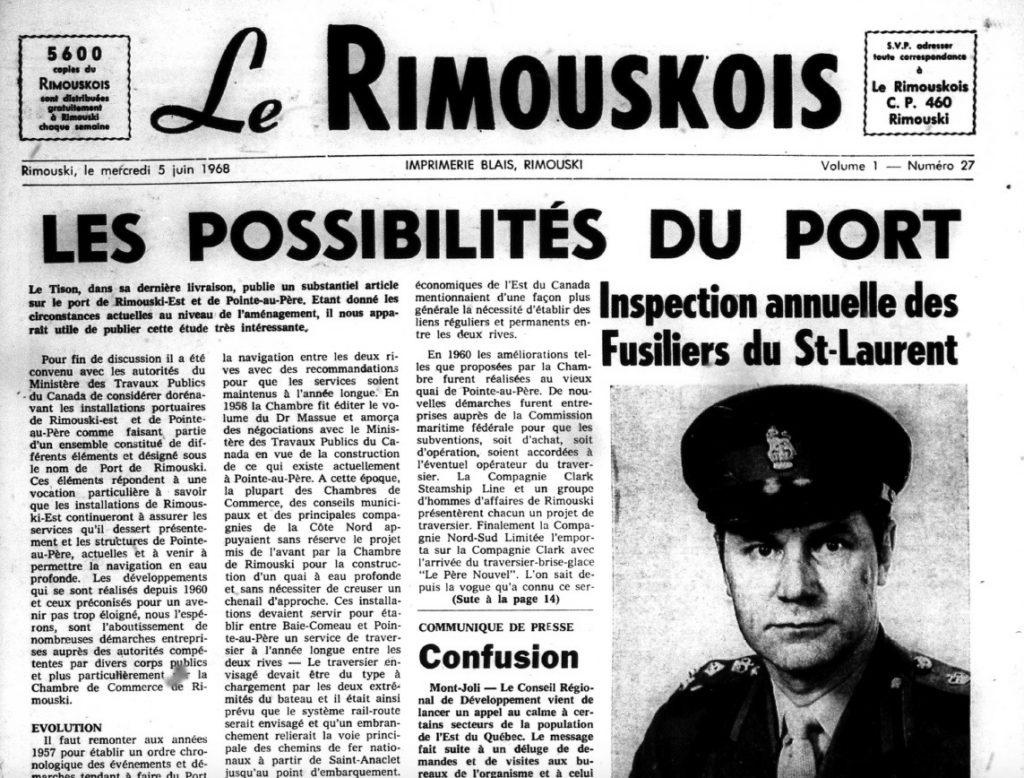 Histoire de la presse écrite à Rimouski - 2e partie
