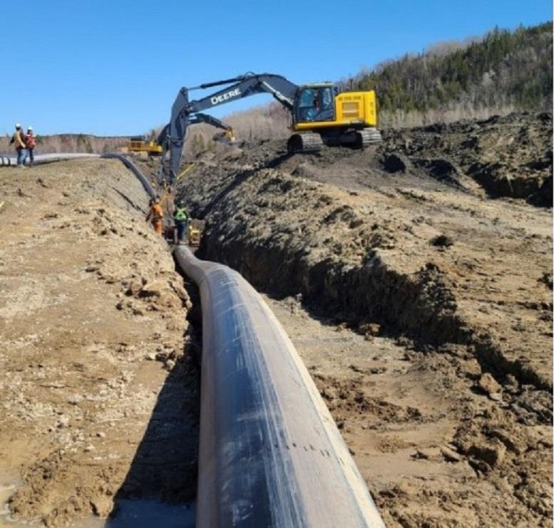 Le projet de conduite d'aqueduc de 11 M$ est lancé