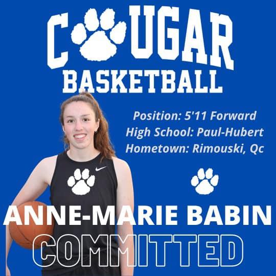 Anne-Marie Babin se joint aux Cougars de Lennoxville